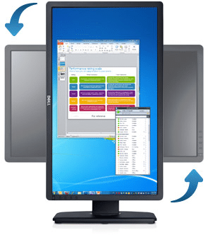 Monitor stand pivotant