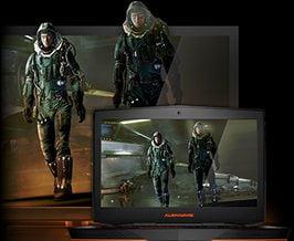 Ecran laptop de inalta definitie pentru jocuri