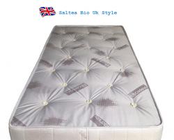 Saltea ortopedica cu arcuri si lana BIO UK Style