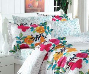 Lenjerie de pat cu imprimeu floral