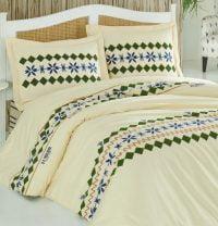 Set de pat galben pal cu model etnic U.S. Polo Assn