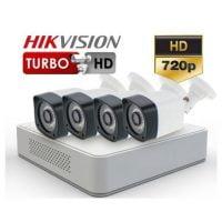 Sistem supraveghere HD 720p cu 4 camere exterior Turbo HD
